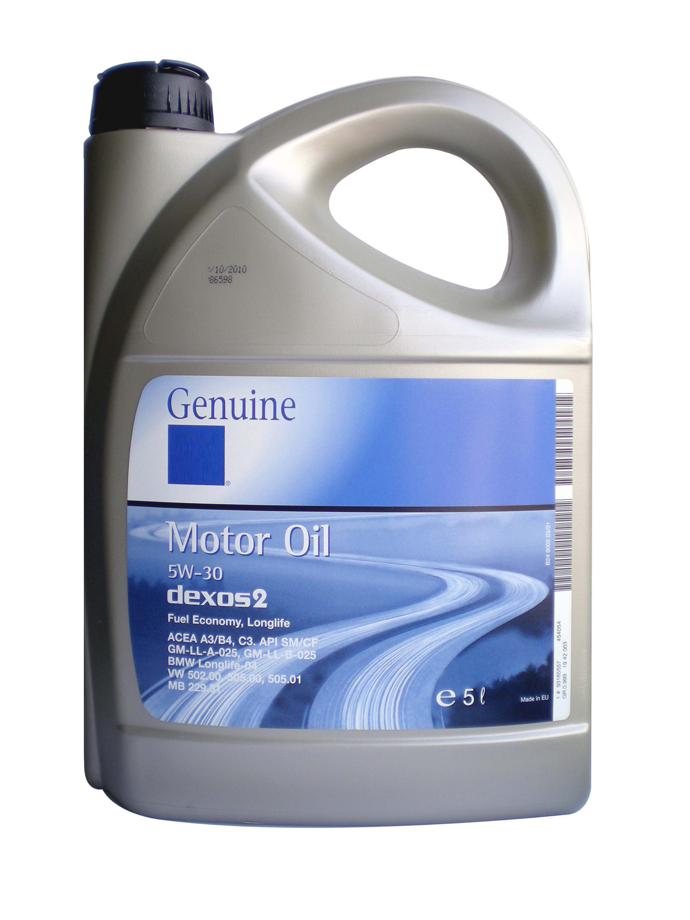 General Motors Motor Oil Dexos 2 5w30